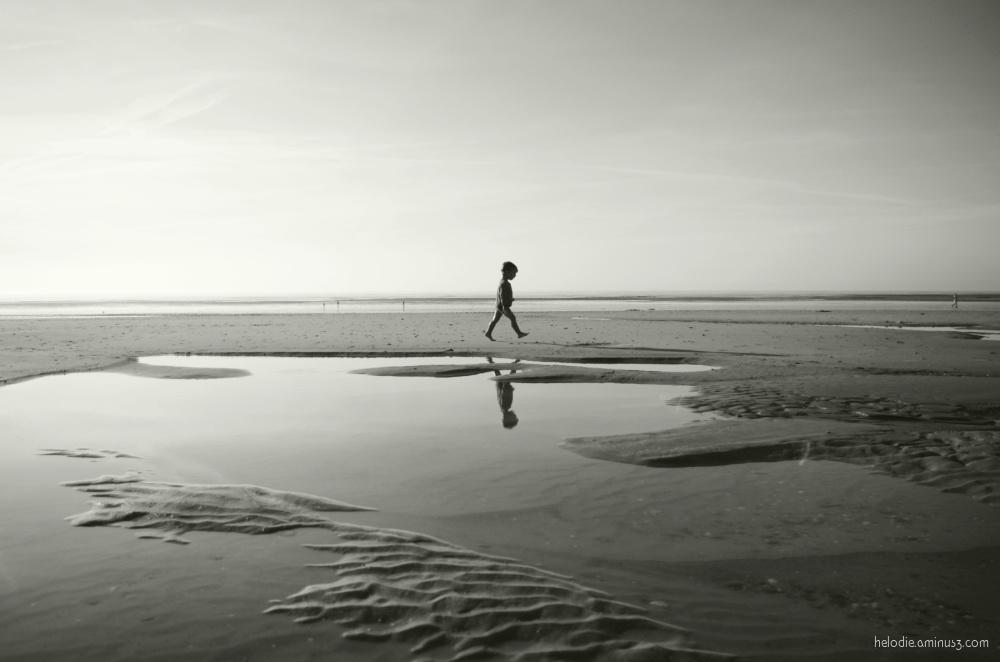La mer, les flaques