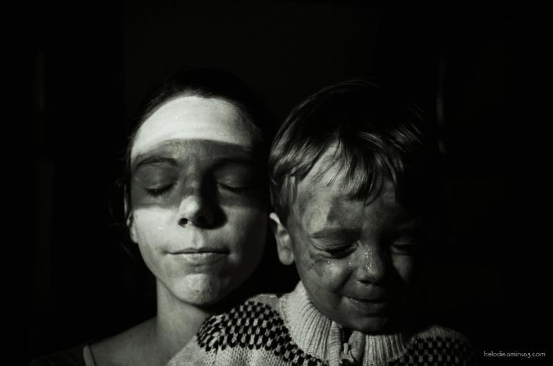 Autoportrait au petit garçon pailleté ...