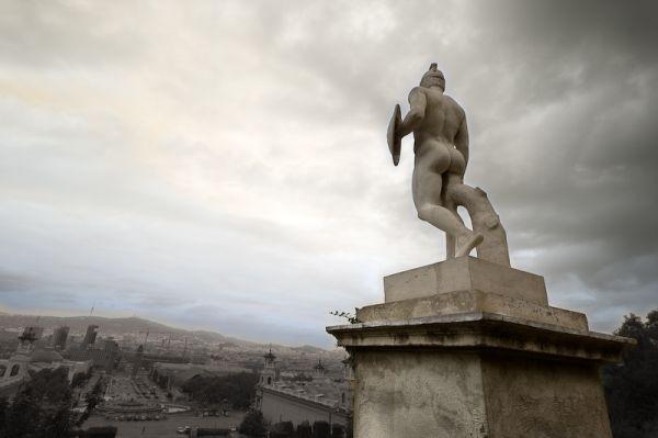 Estatua en Montjuic