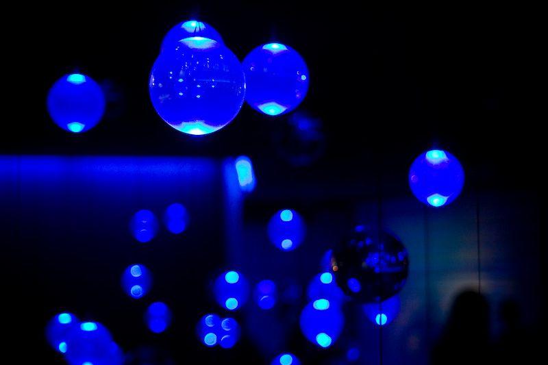 Burbujas en el stand de Francia