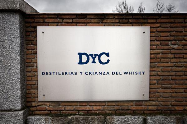 Entrada de la fábrica de DyC en Palazuelos