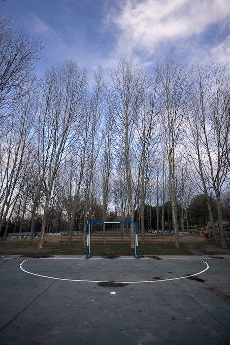 Portería en el parque Ribera de Castilla
