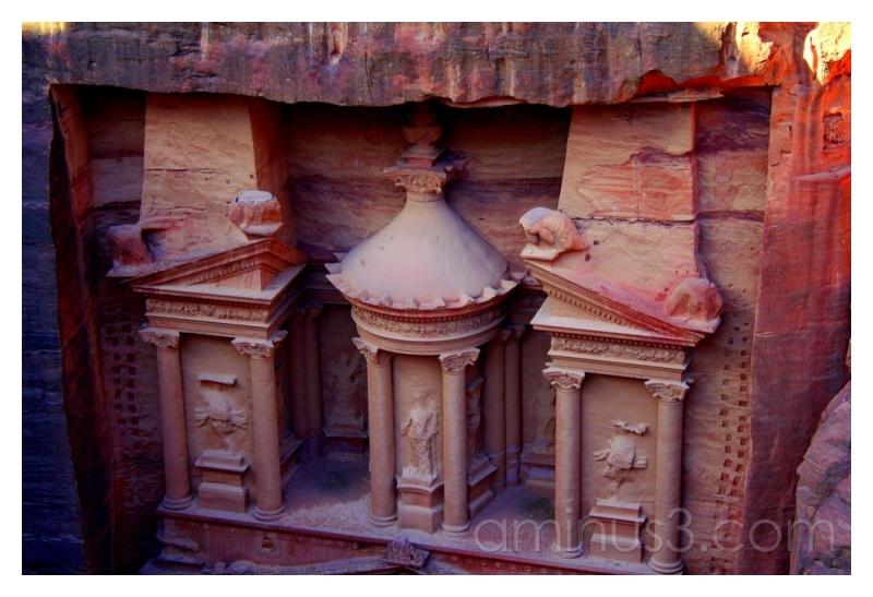 Petra's Treasury From Above (Detail), Jordan