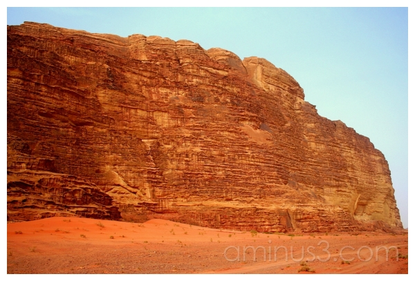 Yellow Sandstone Bluff, Wadi Rum, Jordan