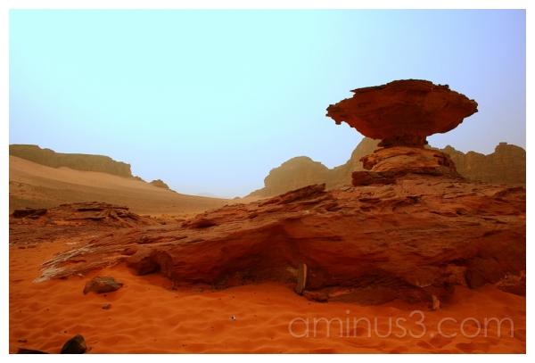 Natural Sandstone Monument, Wadi Rum, Jordan
