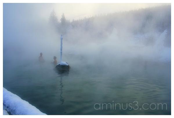 2 Bathers, Chena Hot Springs, Alaska