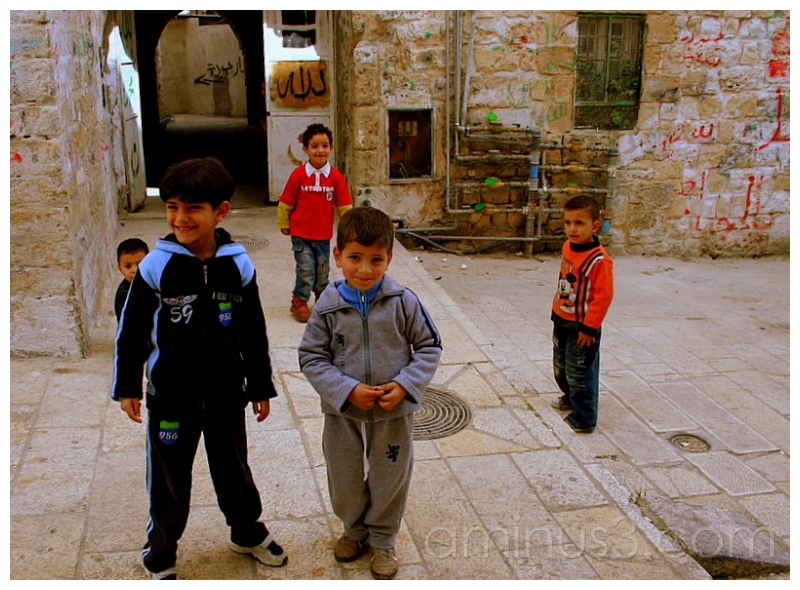 Young Palestinian Boys, Old Jerusalem, Israel