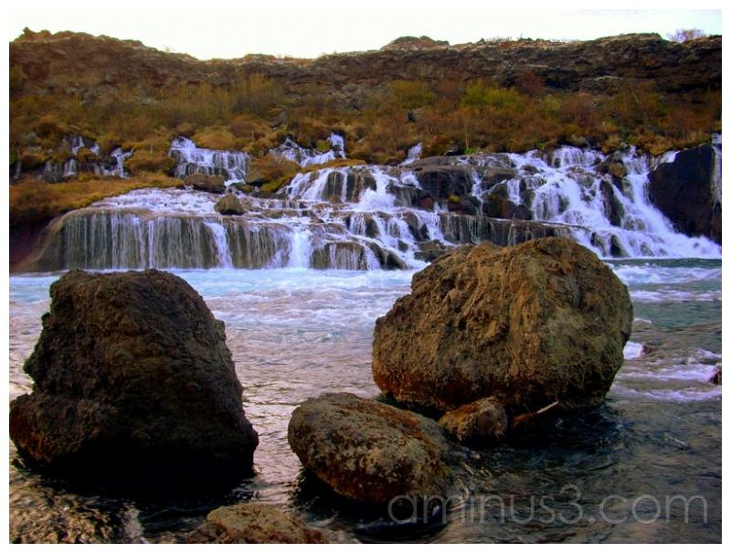 Hraunfosser Falls, Interior Iceland