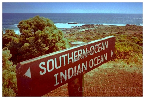 Ocean Crossing Sign, Augusta, Western Australia