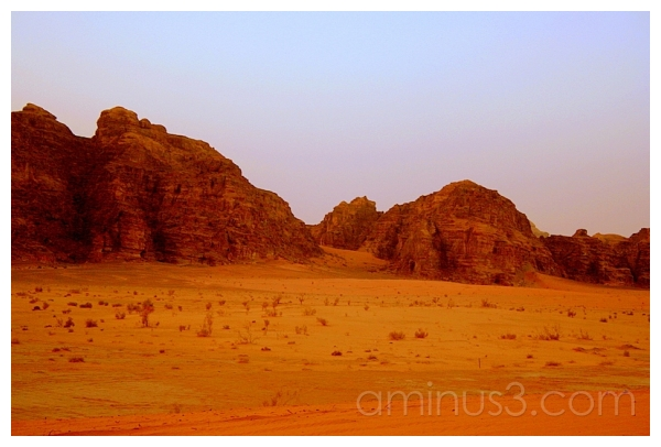 Orange Sands -- Violet Sky, Wadi Rum, Jordan