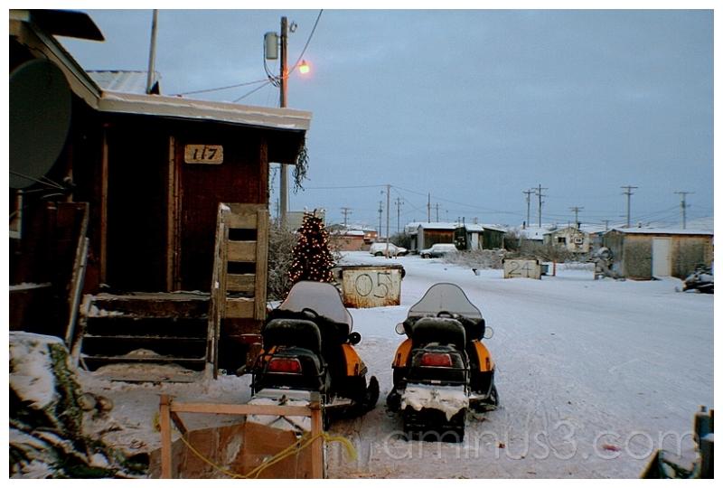 An Icy Front Yard, Downtown Anaktuvuk, Alaska