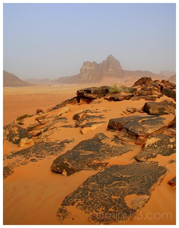 Black Granite -- Yellow Sands, Wadi Rum, Jordan