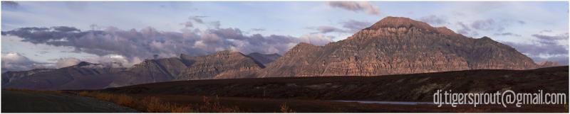 North Eastern Ridge of Anaktuvuk Pass (Panorama)