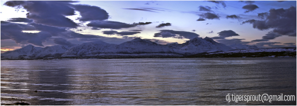 Polar Twilight, Tromso, Norway (Panorama)