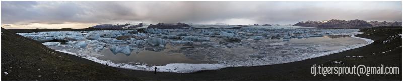 Jokulsarlon Glacier Lagoon, Iceland (Panorama)