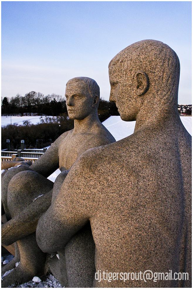 Adolescent Males, Vigeland Sculpture Park, Oslo