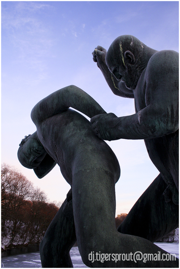 Son Takes a Beating, Vigeland Sculpture Park, Oslo
