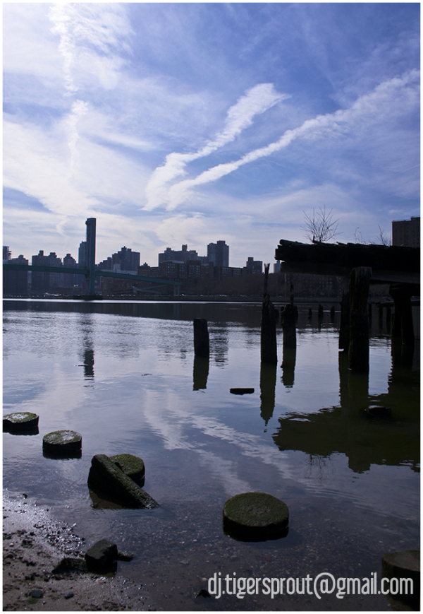 Defunct Jetty On Ward's Island, East River, NYC