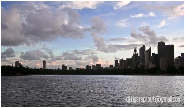 City Skyline @ Dusk From the Harbour, Sydney