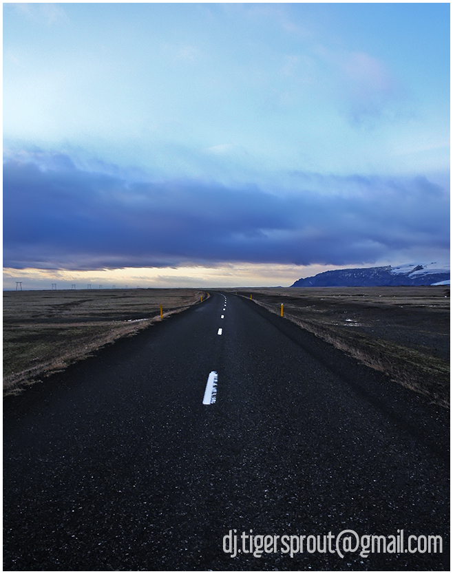 a Lonely Stretch of Road, Southern Iceland