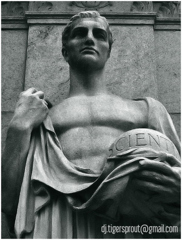 Male Statue (Detail), Columbia University, NYC
