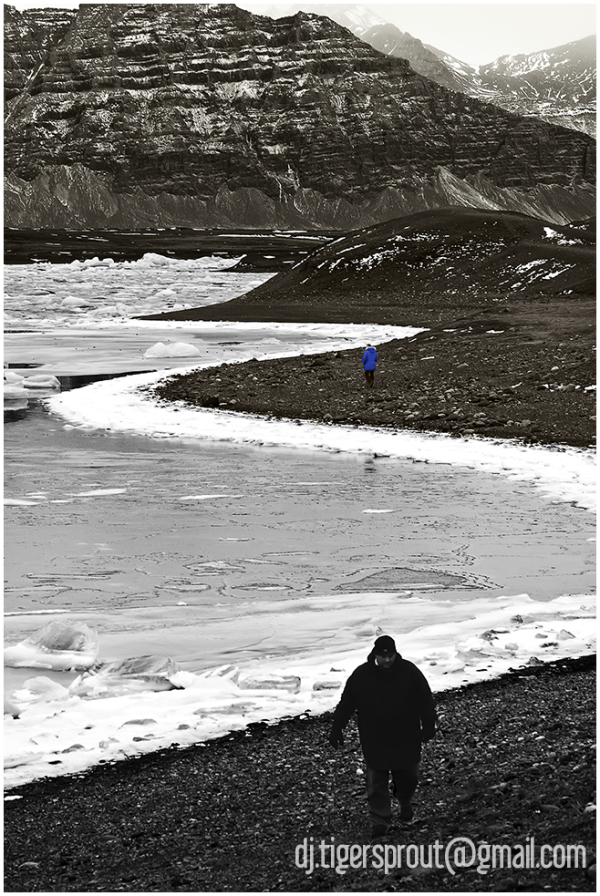 On the Perimeter of a Frozen Bay... (Jokulsarlon)