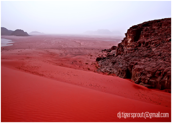 a Downward Sloping Sea of Red Sand...
