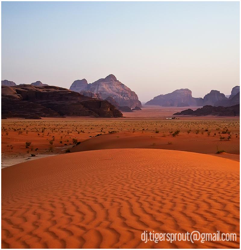 Glowing Dunes, Sci Fi Landscape (Wadi Rum))