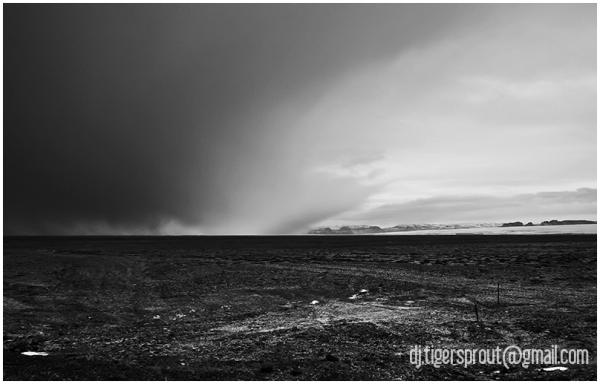 Descending Snow Storm Over Glacier Plains, Iceland