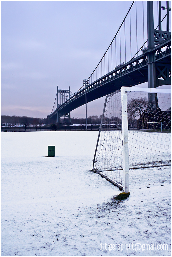 An Deserted Soccer Field, Wards Island, NYC