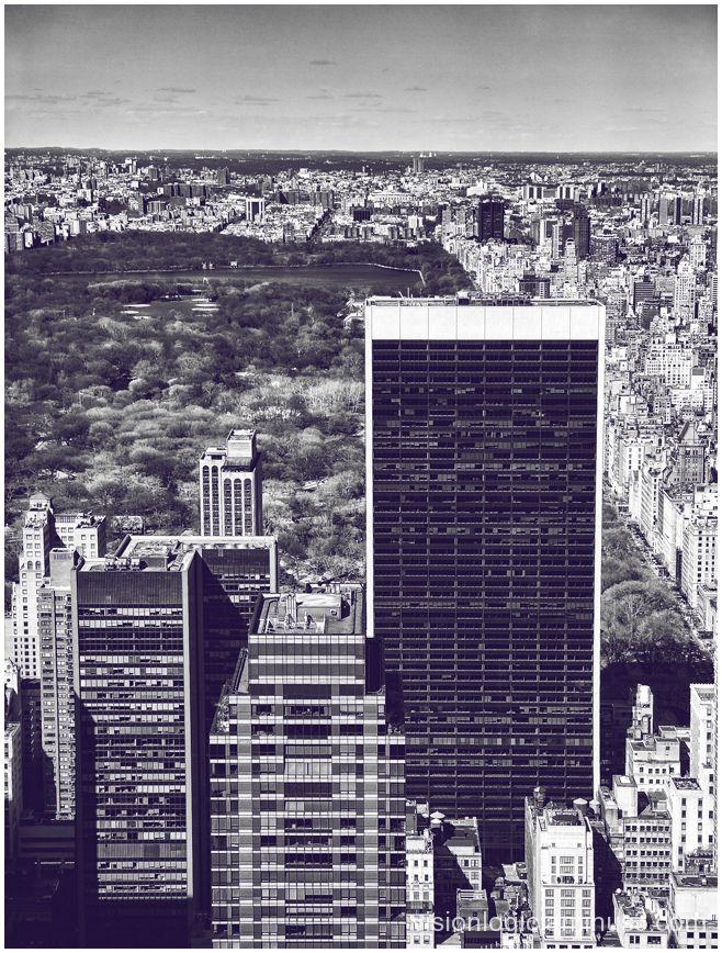 Over Central Park, Rockefeller Center, NYC