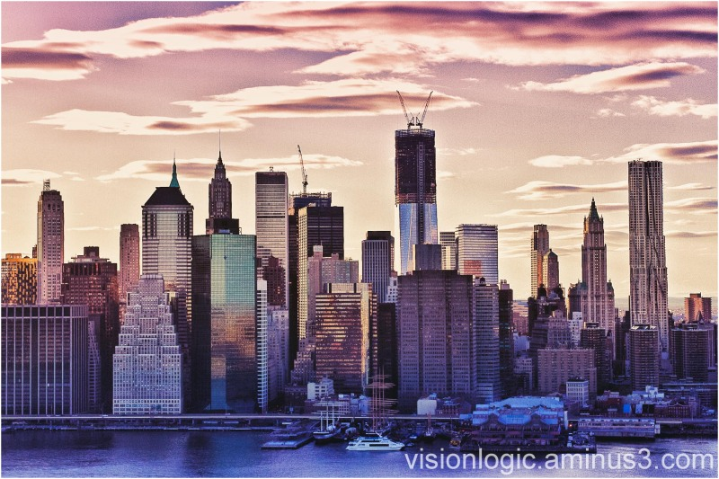 Financial District Skyline at Sunset, NYC