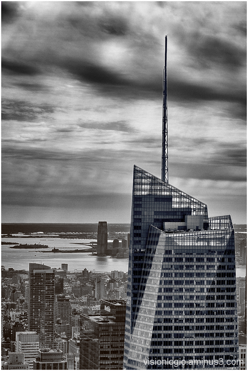 Bank of America Spire, from Top of the Rock, NYC