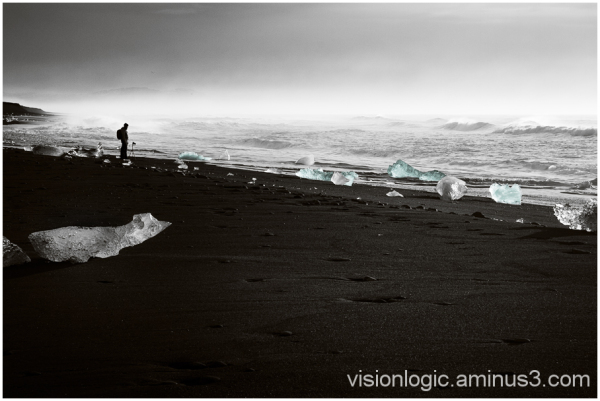 'Black Sand, Blue Ice' Diamond Beach, Jokulsarlon