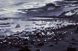 Lithographic Skies, Diamond Beach, Jokulsarlon