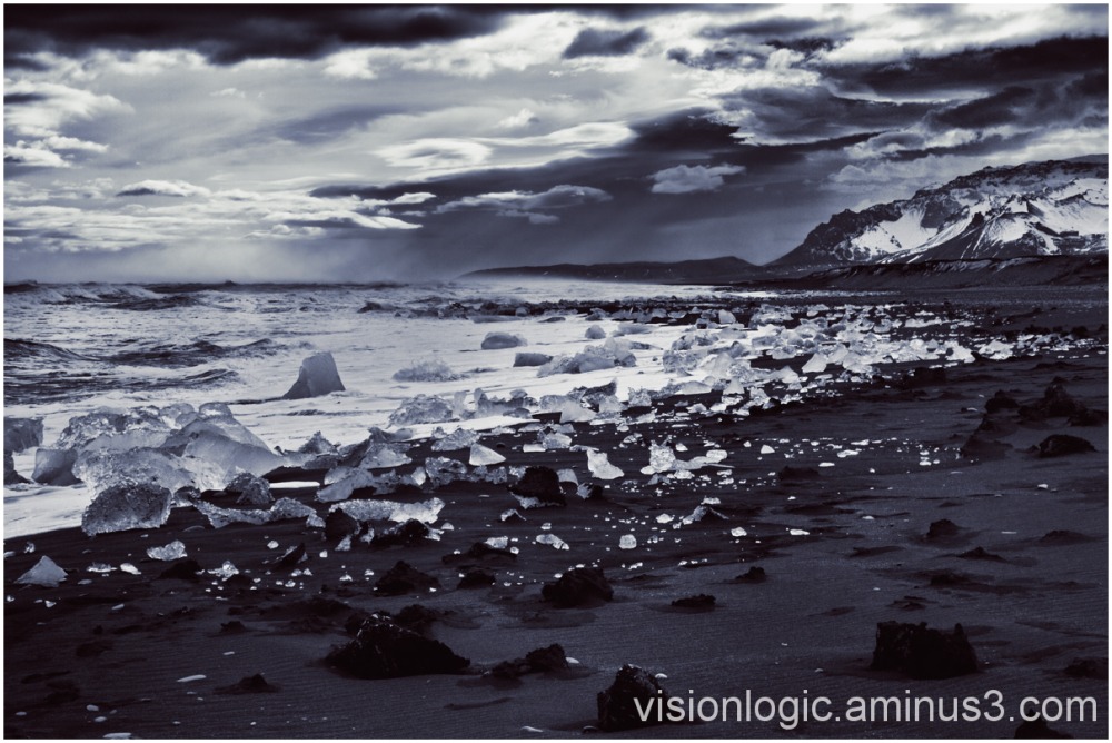Lithographic Skies, Diamond Beach, Jokulsarlon