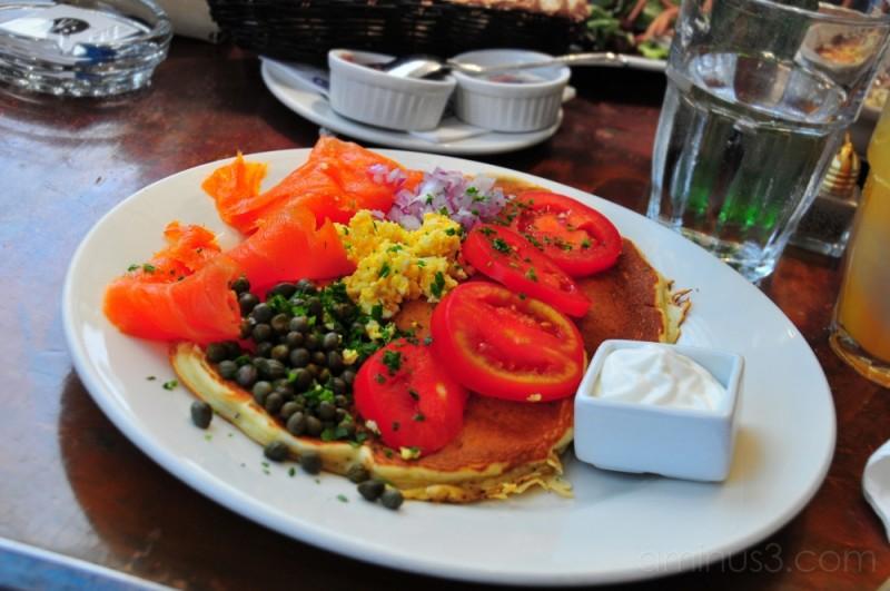 pistachio pancake for brunch