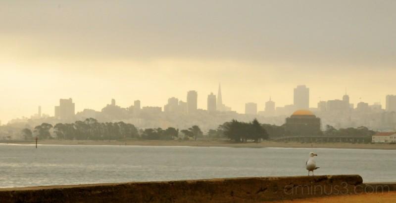 hazy morning of San Francisco