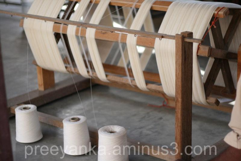 Spinning for a handloom