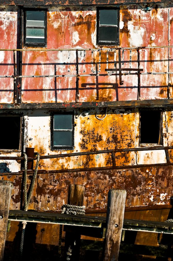 Rusty Ship Vertical