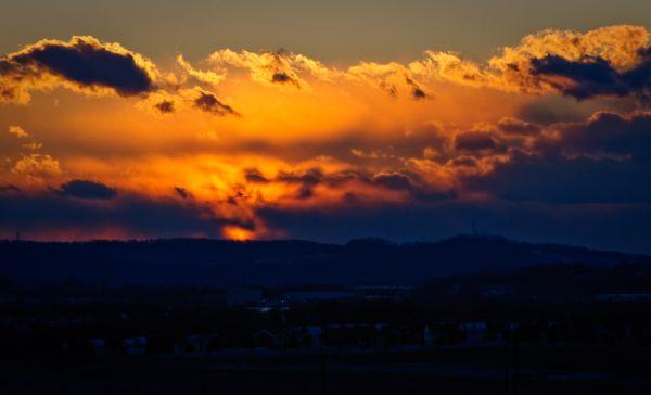 Sunset Over Middletown Road 2