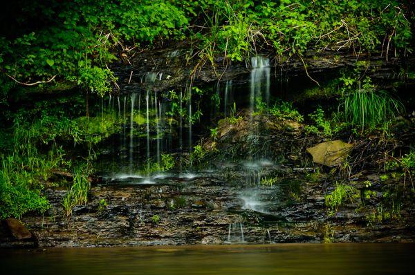 Small Waterfall along Pine Creek in Pennsylvania
