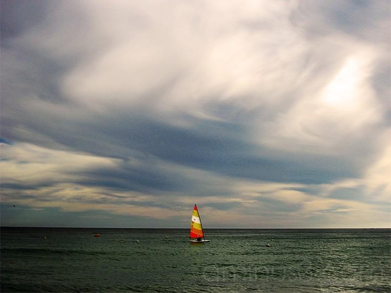 o mar,entre céu e terra