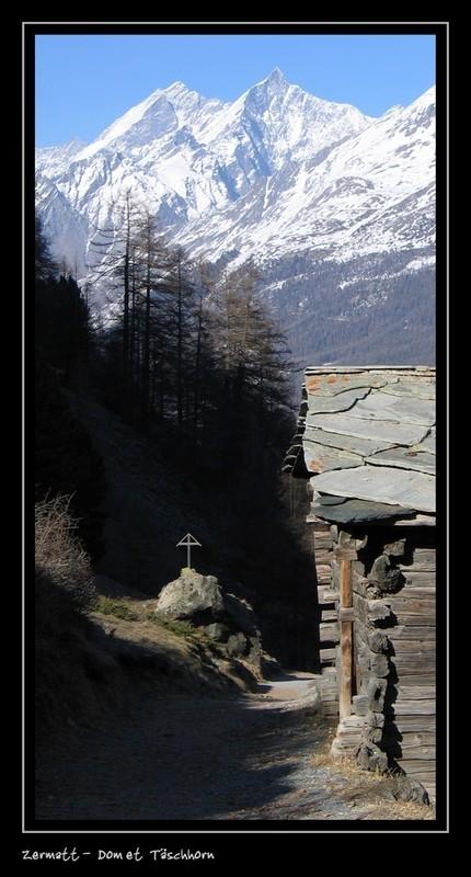 Taeschhorn and Dom from Zermatt