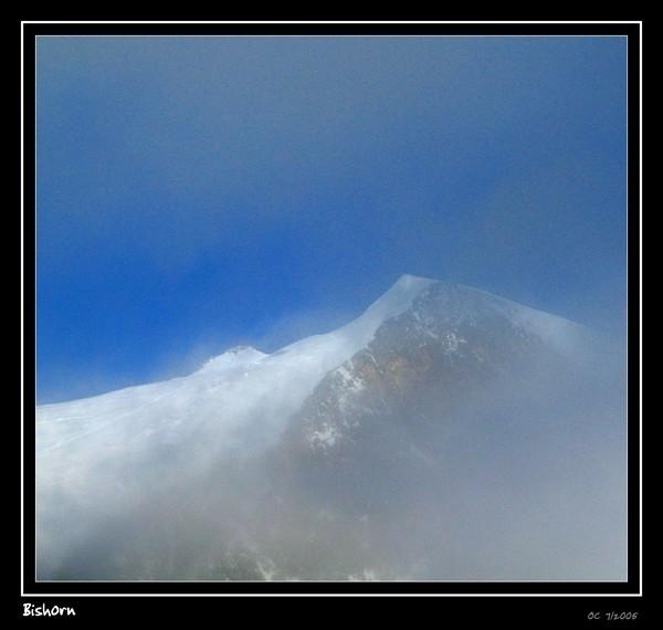 Bishorn summit in the fog