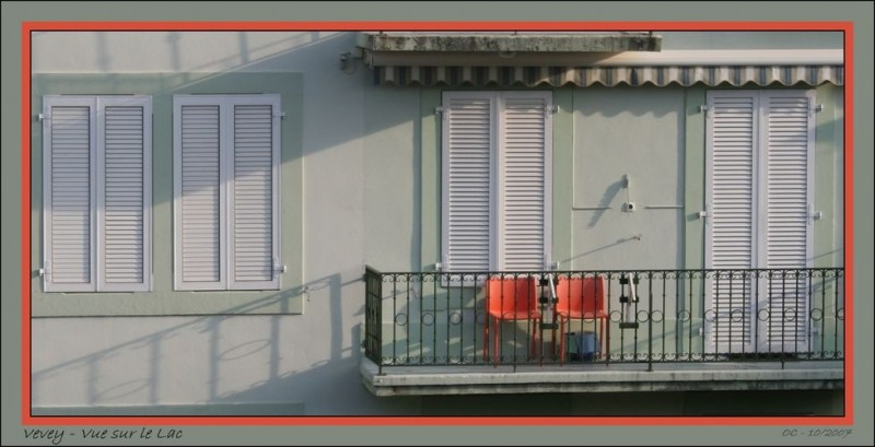 view on the lake vevey balcony colour