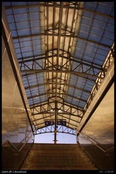 Lasuanne station gare de Lausanne