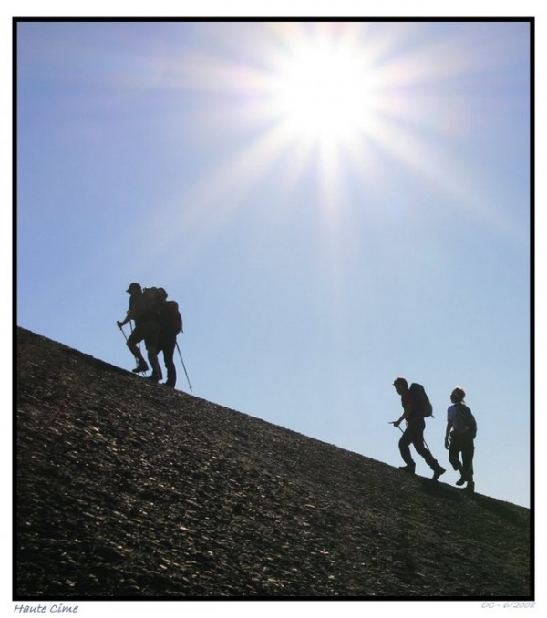 haute cime climbing  ascent