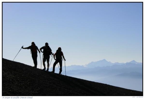 breathtaking ladscape ont he ascent to Haute Cime