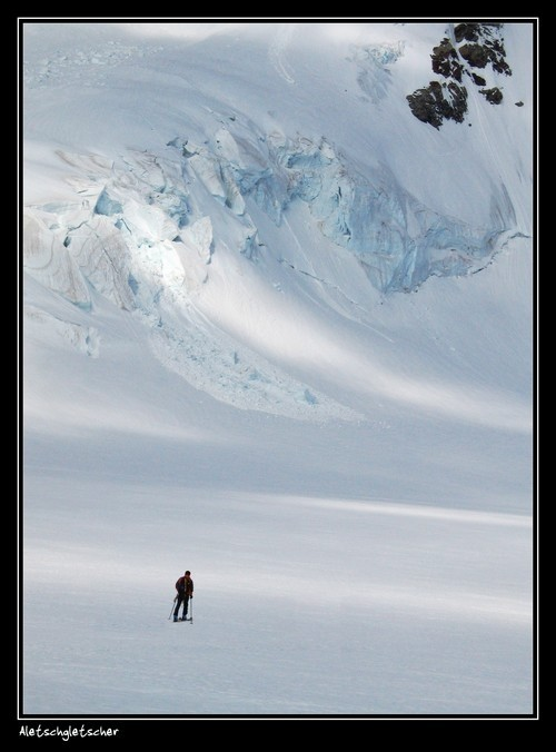 ski routing Aletschgletscher